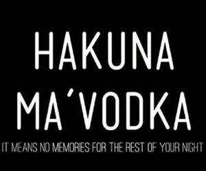 drink, hakuna matata, and memories image