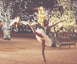 ballerina, lights, and ballet image