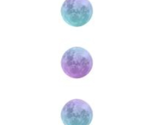 moon phases and transparent image