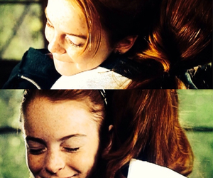 annie, lindsay lohan, and the parent trap image