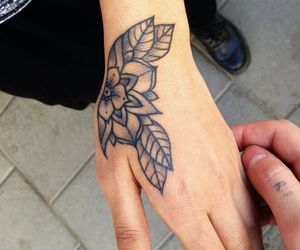 girl, tattoo, and hand image