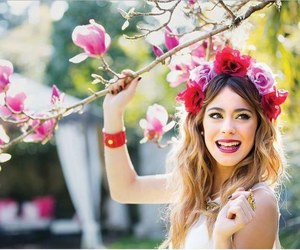 violetta, martina stoessel, and flowers image