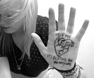 blonde, girl, and heart image