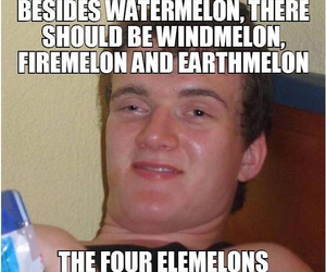 funny, watermelon, and haha image