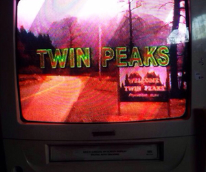 Twin Peaks and vcr image