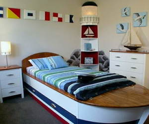 bedroom, boat, and boy image