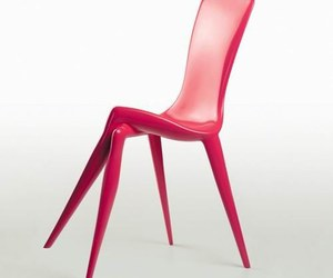 chair, design, and pink image