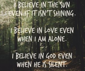 god, believe, and quote image