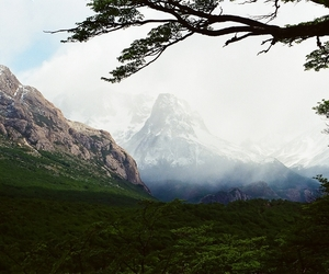 green, landscape, and mountains image