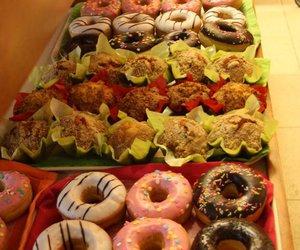 yum, donuts, and treats image