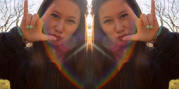 rainbow, girl, and nails image