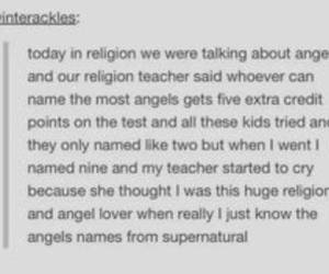 angels, funny, and supernatural image