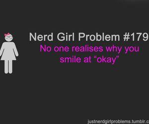 nerd, nerd girl problems, and crush image