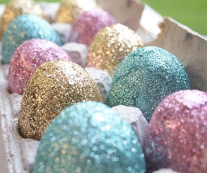 easter, glitter, and pink image