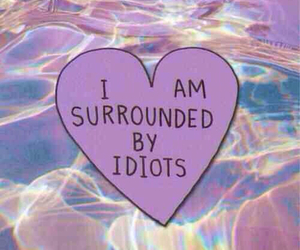 idiot, heart, and grunge image