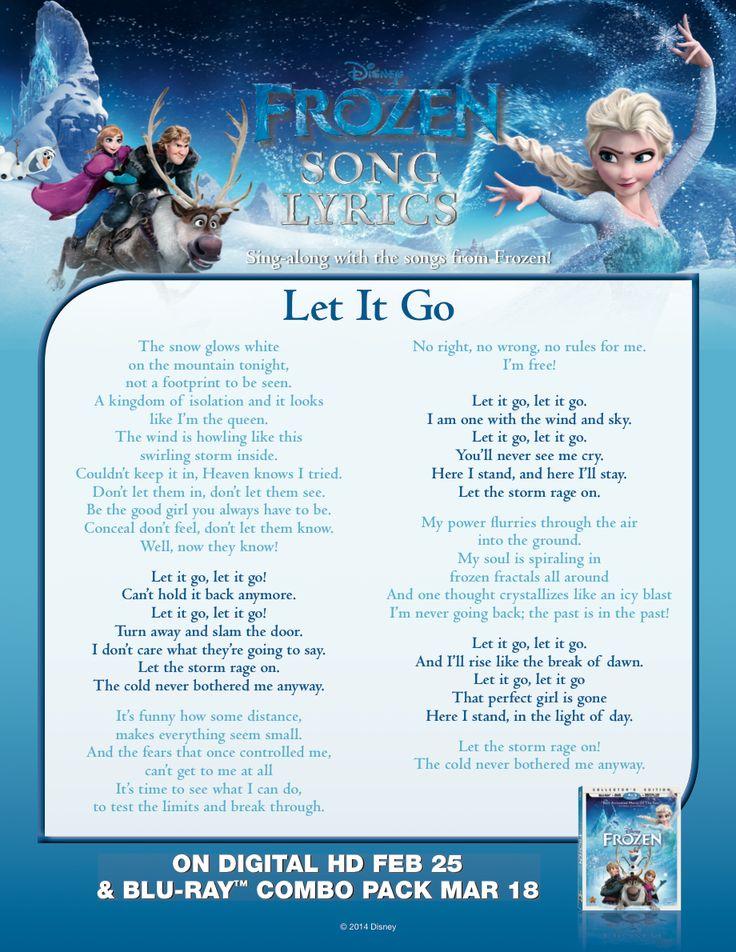 Amazon. Com: frozen disney movie poster (let it go sing along.