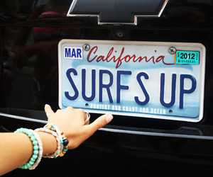 california, surf, and summer image
