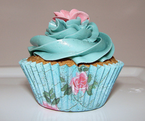 baby blue, cake, and floral image