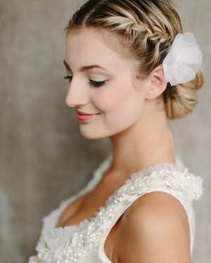 hair, wedding hairstyle, and hairstyle image