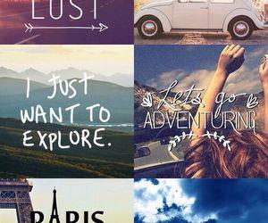 travel, paris, and adventure image