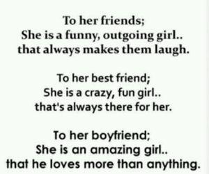 friends, boyfriend, and quote image