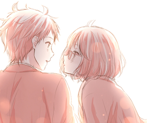 anime, kyoukai no kanata, and couple image