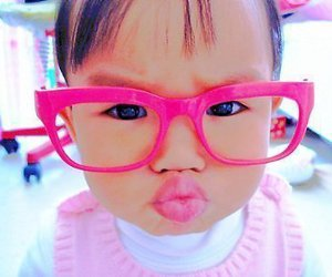 adorable, girl, and lunette image