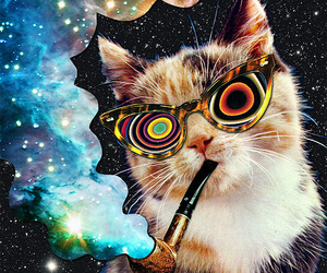 psychedelic, Collage, and weed image