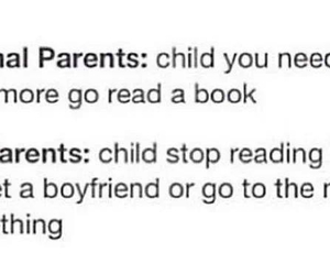 books, funny, and parents image