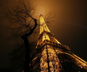 eiffel tower, paris, and light image