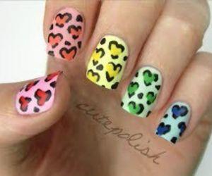 nails, nail art, and hearts image