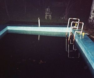 pool, grunge, and night image
