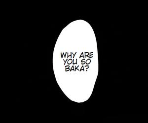 baka, manga, and black image