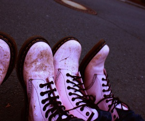 doc martens, pink, and docs image
