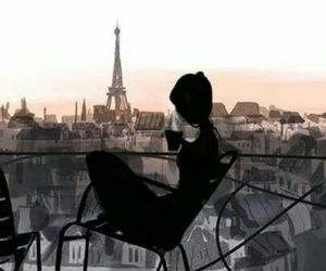coffe, love, and paris image