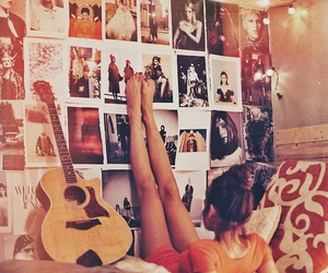 bed, girl, and hipster image