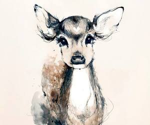 animal, bambi, and deer image