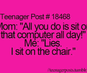 teenager post, computer, and funny image