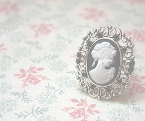 vintage, ring, and cameo image