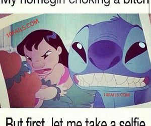 selfie, stitch, and funny image