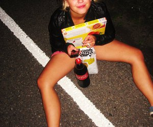 blond, drunk, and girl image