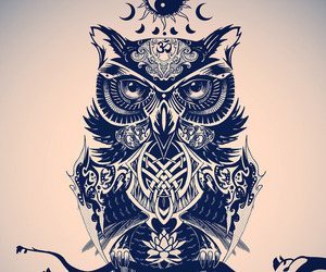 owl, tattoo, and art image