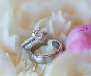 bridal, couple, and jewelry image