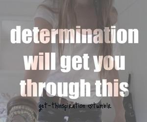 determination, girl, and motivation image