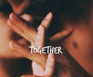 couple, together, and hands image