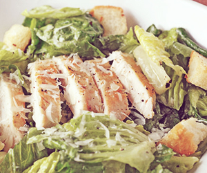 cheese, lettuce, and croutons image