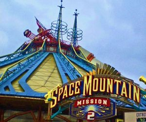 disneyland and space mountain image