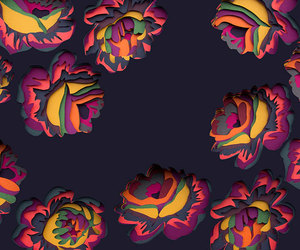 flowers, art, and colors image