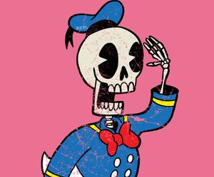 disney, donald, and skeleton image