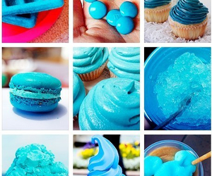 blue, cute, and cupcake image